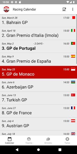 Racing Calendar 2021 screenshot 3