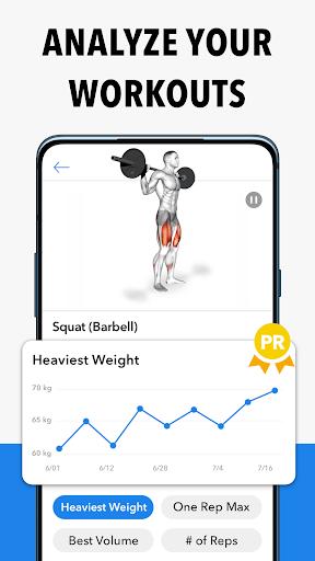 Hevy - Workout Tracker Planner Weight Lifting Log 3 تصوير الشاشة