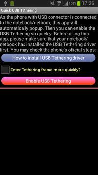 USB Tethering /Tether screenshot 1