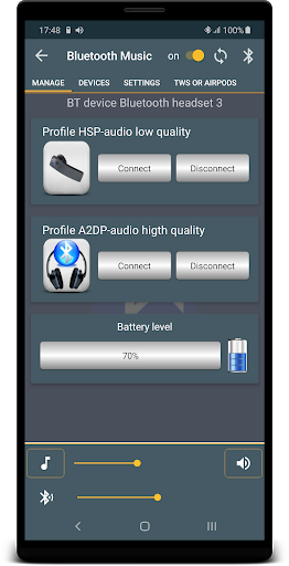 Bluetooth Music  Widget Battery TWS Pods FREE 3 تصوير الشاشة