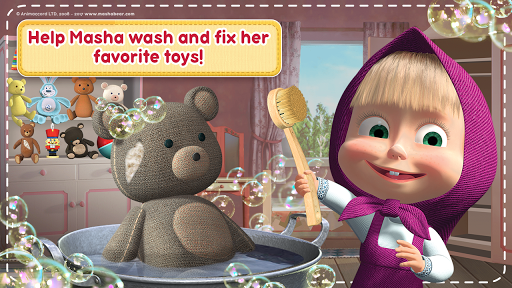 Masha and the Bear: House Cleaning Games for Girls screenshot 6