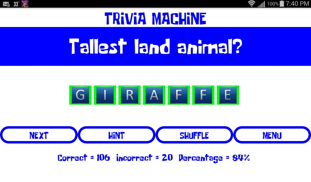 Trivia Machine screenshot 2