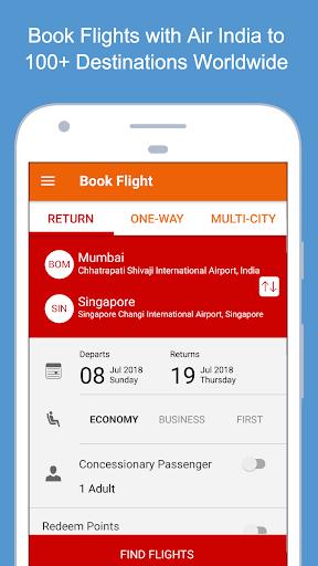 Air India screenshot 2