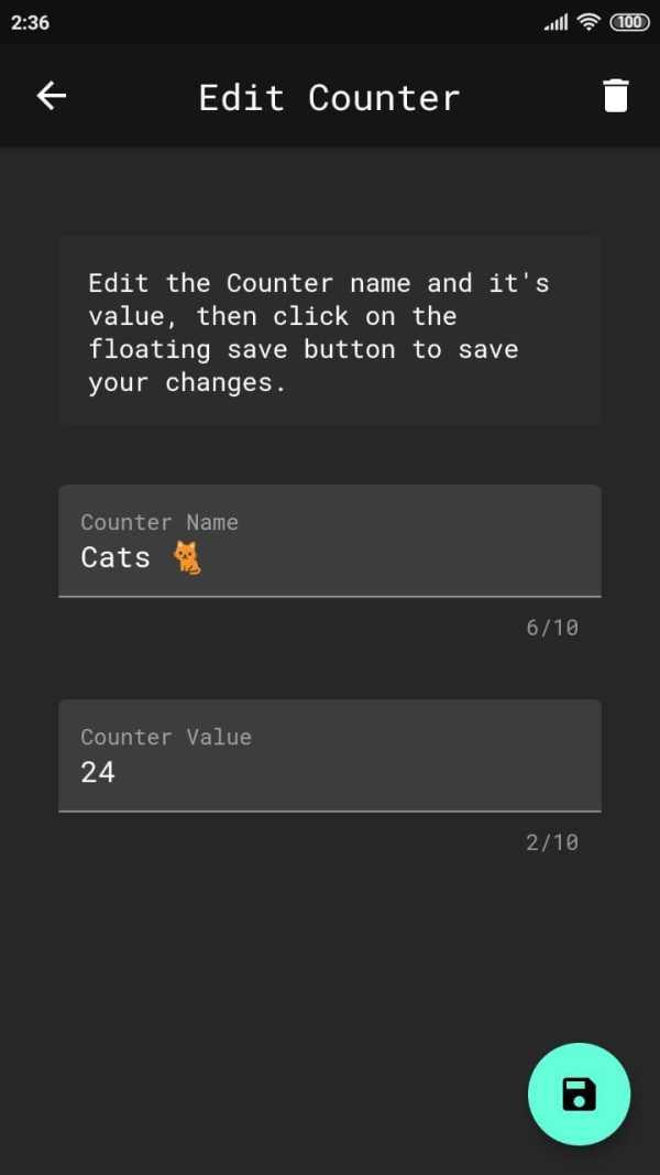 Counters - Simple, Material-Dark Tally Counter screenshot 6