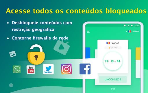 NetCapsule VPN VPN grátis, VPN rápida, Desbloquear screenshot 8