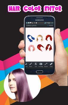 Hair color changing app screenshot 2