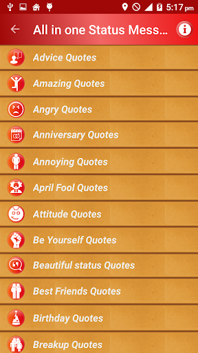 All Status Messages & Quotes screenshot 1