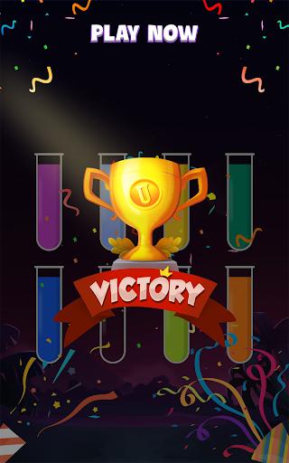 ソートウォーターパズル - 色分けゲーム screenshot 6