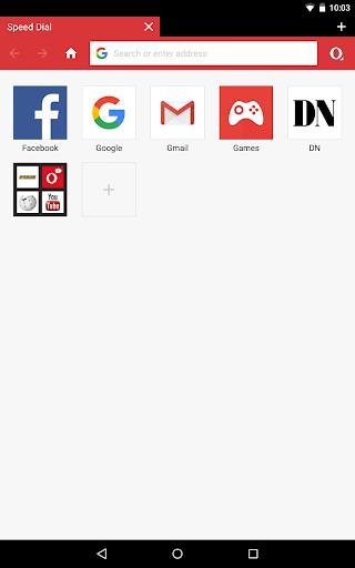 الإصدار التجريبي من Opera Mini 10 تصوير الشاشة