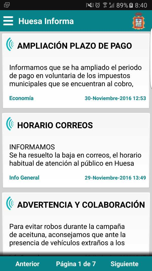 Huesa Informa screenshot 1