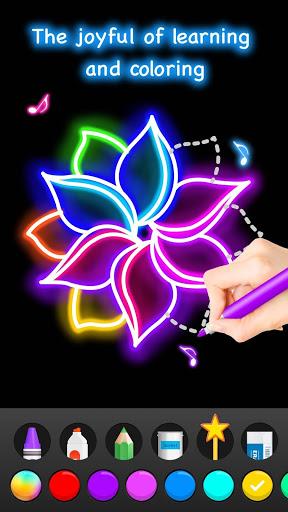 Learn To Draw Glow Flower скриншот 6