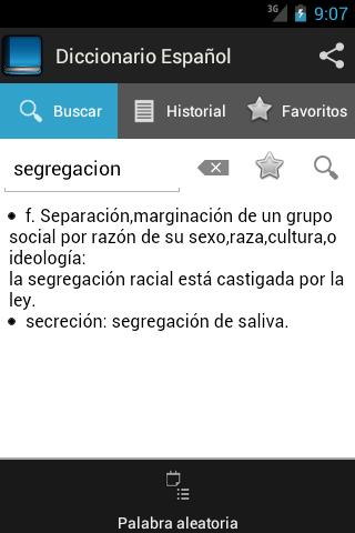 Spanish dictionary screenshot 4