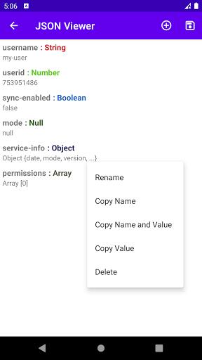 JSON Viewer & Editor screenshot 3