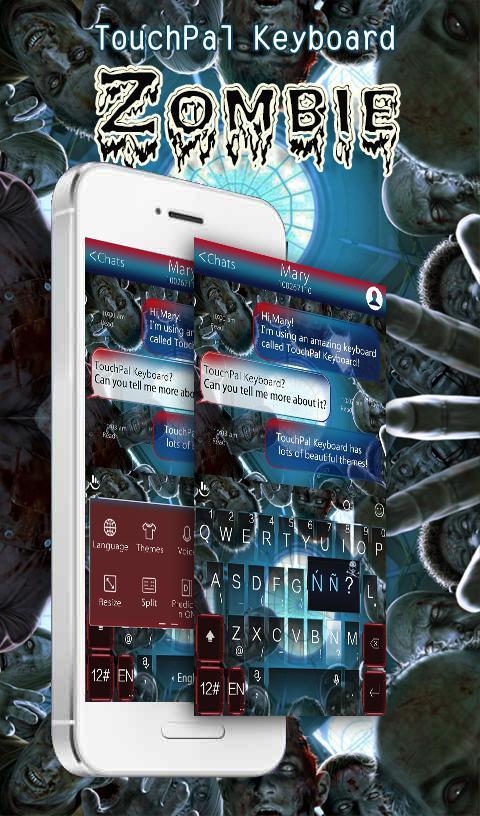 TouchPal Zombie Keyboard Theme 1 تصوير الشاشة