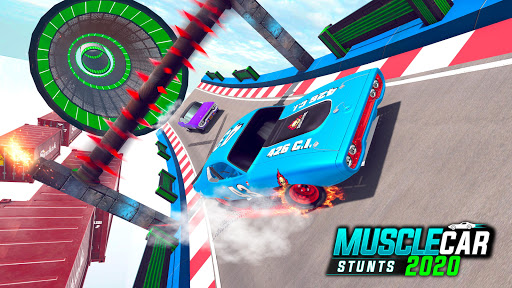 Muscle Car Stunts 2020: Mega Ramp Stunt Car Games screenshot 8