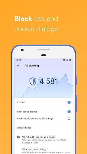Opera browser with free VPN screenshot 3