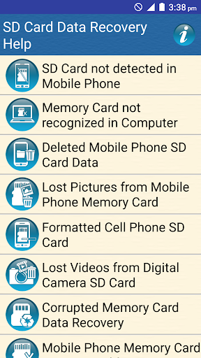 SD Card Data Recovery Help screenshot 1