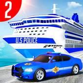 Us Police Car Transporter Truck Driving Simulator