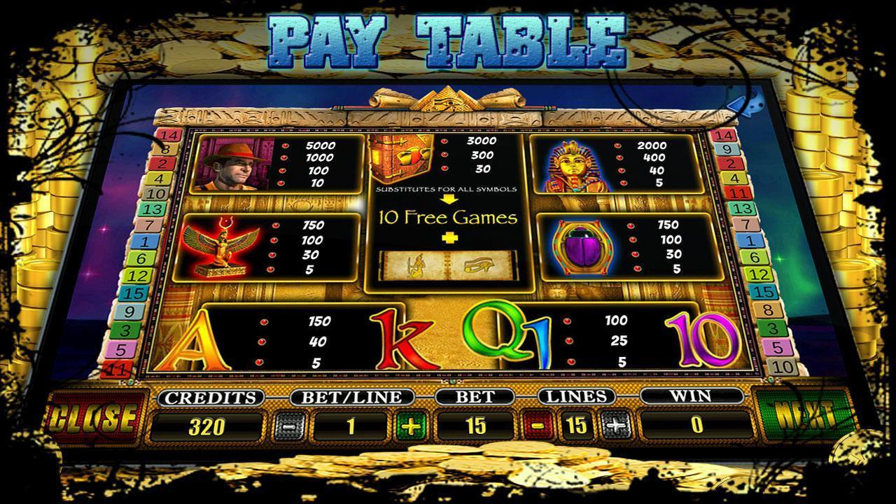Slot Egyptian Treasures 5 تصوير الشاشة