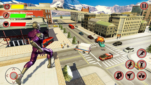 Super Speed Light Hero Games City Rescue Mission 3 تصوير الشاشة