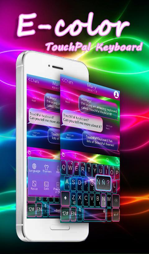 E Color Keyboard Theme screenshot 1