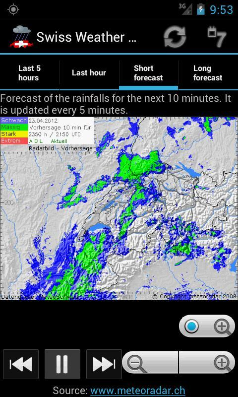 Swiss Weather Radar screenshot 2