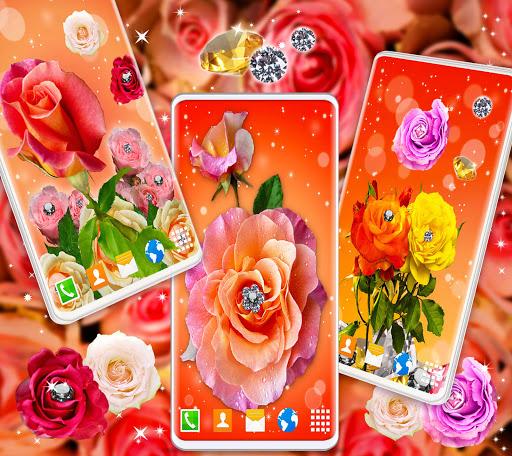 Diamond Rose Live Wallpaper ❤️ Shine HD Wallpapers 4 تصوير الشاشة