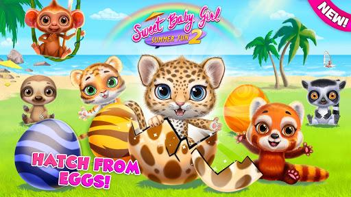 Sweet Baby Girl Summer Fun 2 - Sunny Makeover Game 1 تصوير الشاشة