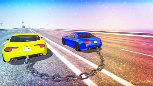 Chained Cars Against Ramp 3D screenshot 3