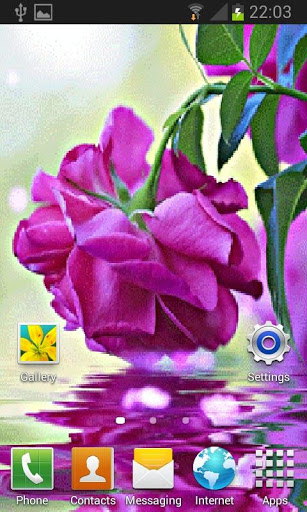 Purple Rose Swining LWP screenshot 1