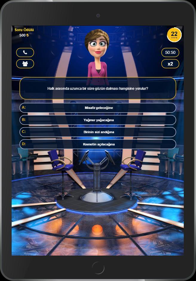 Mega Milyoner 2017 - 50 Bin Soru screenshot 7