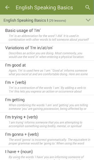 تعلم تحدث الانجليزية 2 تصوير الشاشة