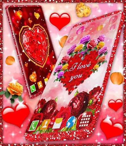 Diamond Hearts Live Wallpaper 💎 Love 4K Wallpaper 8 تصوير الشاشة