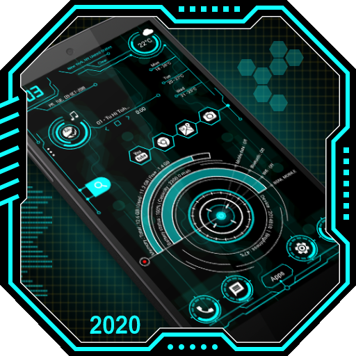 Hi-tech launcher 2020 - قفل التطبيق ، خلفيات Hitec أيقونة