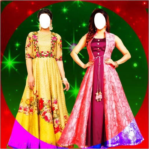Longfrock Photo Suit for girls : Women long dress icon