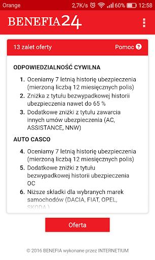 Ubezpieczenie OC AC Benefia 24 screenshot 5