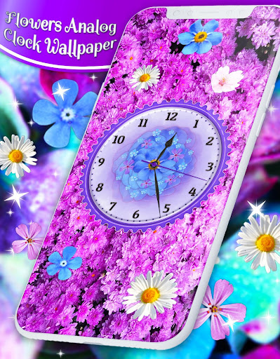 Flower Blossoms Clock 🌺 Spring 4K Live Wallpaper screenshot 8