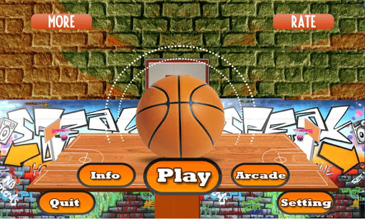 Flick Basketball shooting arcade game - Dunk game 1 تصوير الشاشة