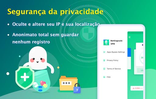 NetCapsule VPN VPN grátis, VPN rápida, Desbloquear screenshot 5