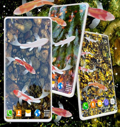 HD Koi Live Pond 3D 🐟 Fish 4K Live Wallpaper Free 6 تصوير الشاشة
