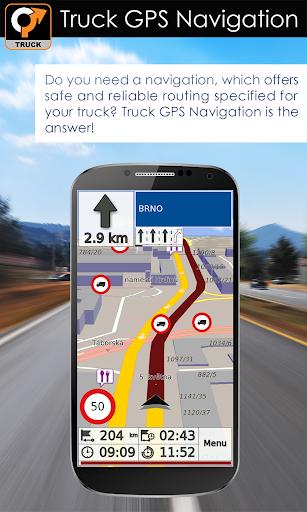Truck GPS Navigation 4 تصوير الشاشة