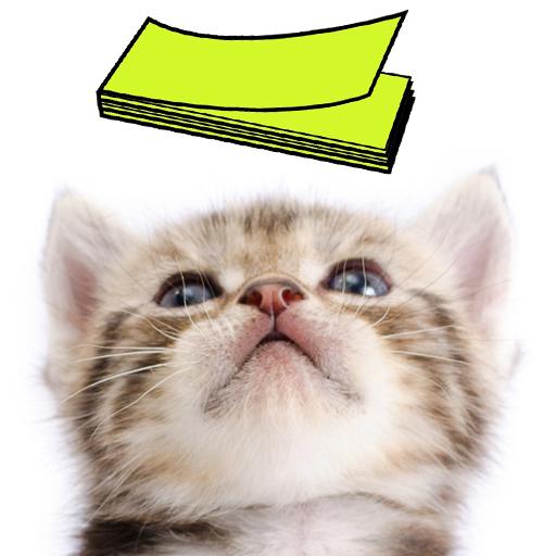 नोटपैड नोट्स : Cat Sticky - बिल्ली icon