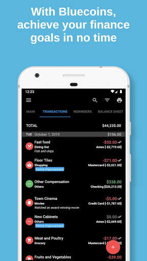 Bluecoins Finance: Budget, Money & Expense Manager screenshot 2