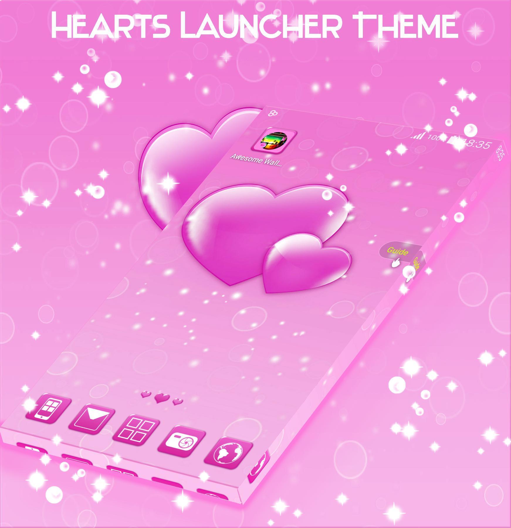 Hearts Launcher Theme screenshot 3