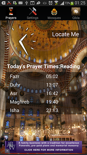 iAzan Prayer Time Mosque Qibla screenshot 2