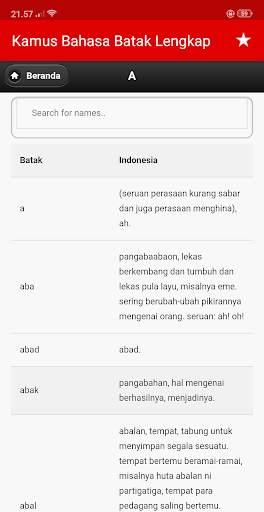 Kamus Bahasa Batak Indonesia Lengkap screenshot 7