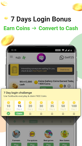 Earn free paytm cash daily | Free recharge 3 تصوير الشاشة