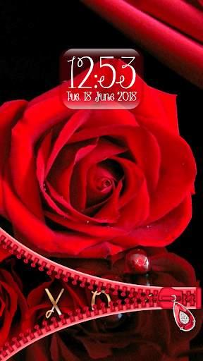 Rose Theme Zipper Lock Screen screenshot 4