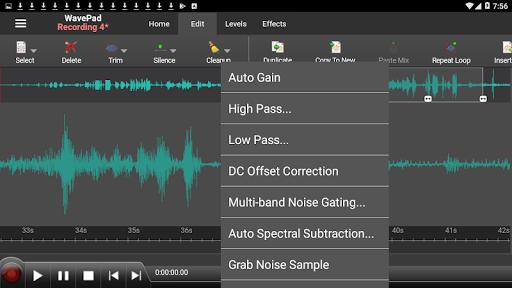 WavePad Audio Editor Free screenshot 4