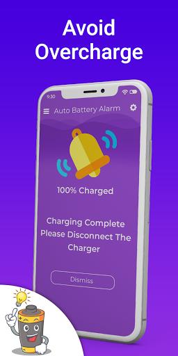 Automatic full charge battery alarm screenshot 2